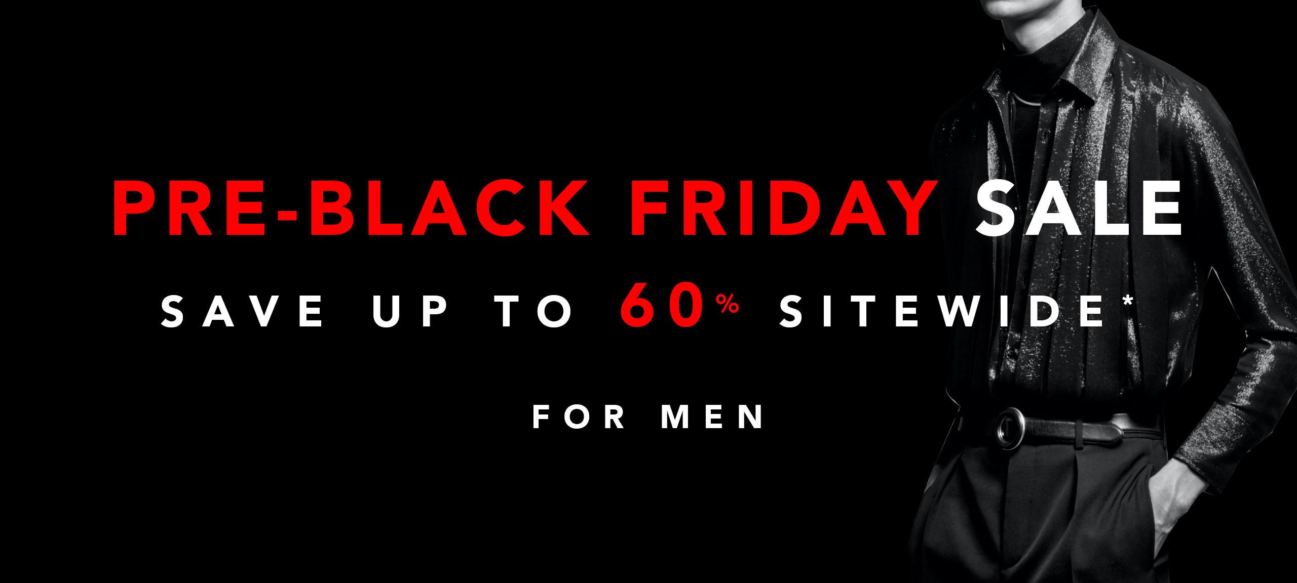 Men Pre Black Friday Sale by italist