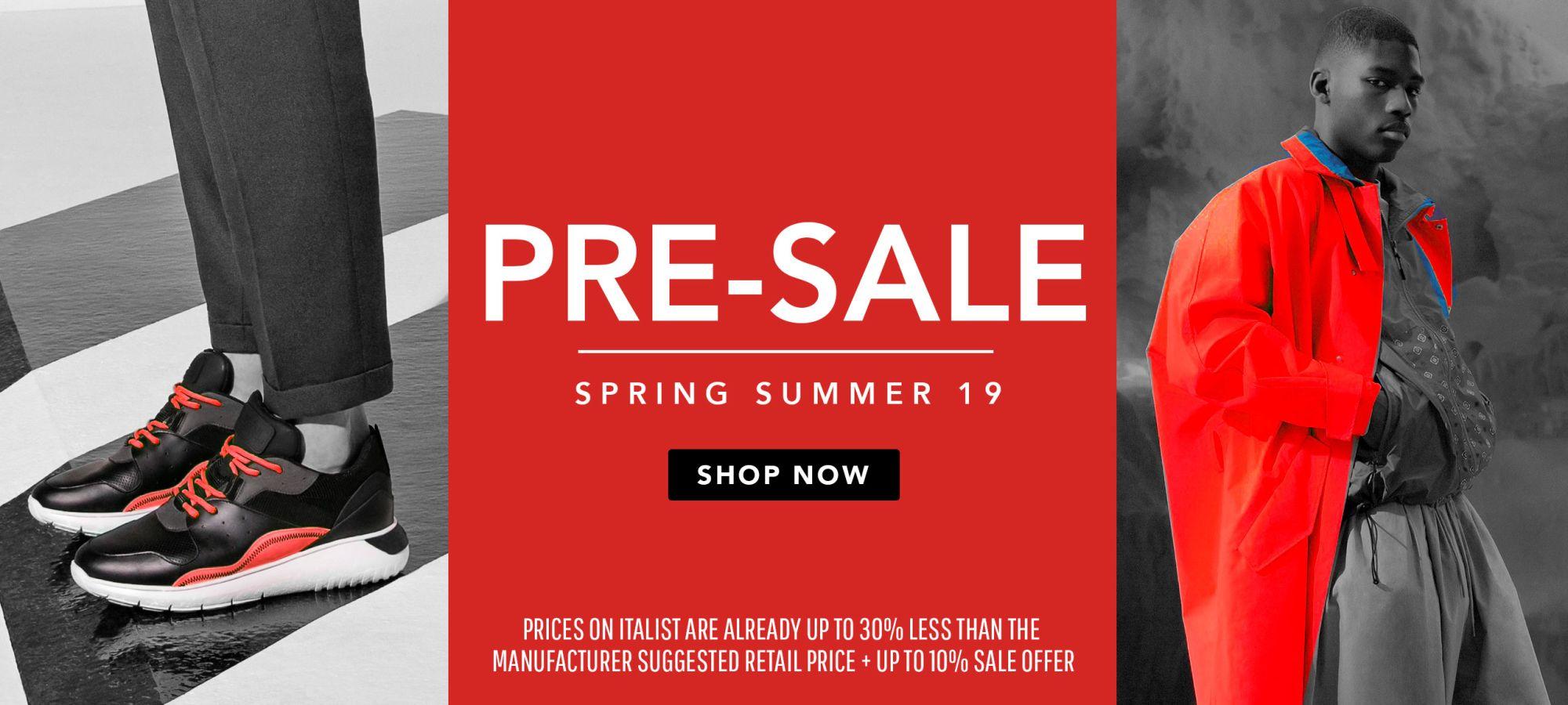 Men Spring Summer Presale 2019 by italist