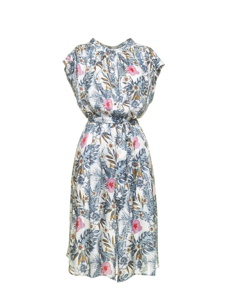 Borbonese Borbonese Dress With Floral Pattern - MULTICOLORE