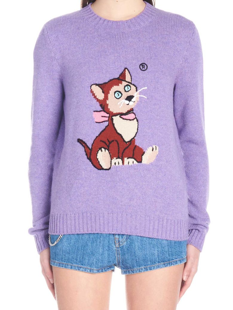 Miu Miu Miu Miu Alice In Wonderland Cat Sweater Purple
