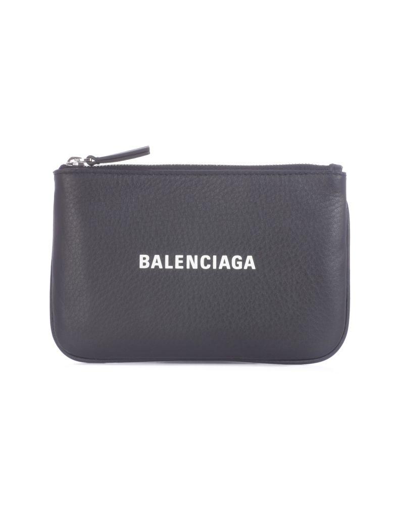 Balenciaga Everyday Logo Pouch - Noir Blanc