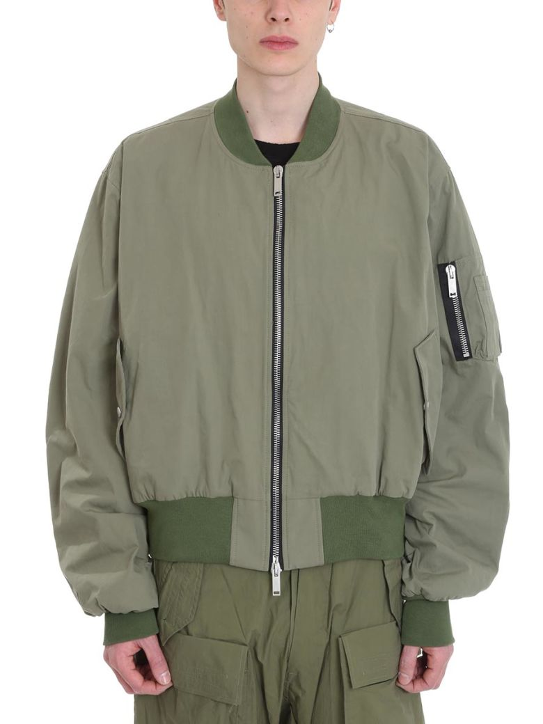 Ben Taverniti Unravel Project Bomber Oversized Green Cotton Jacket - green