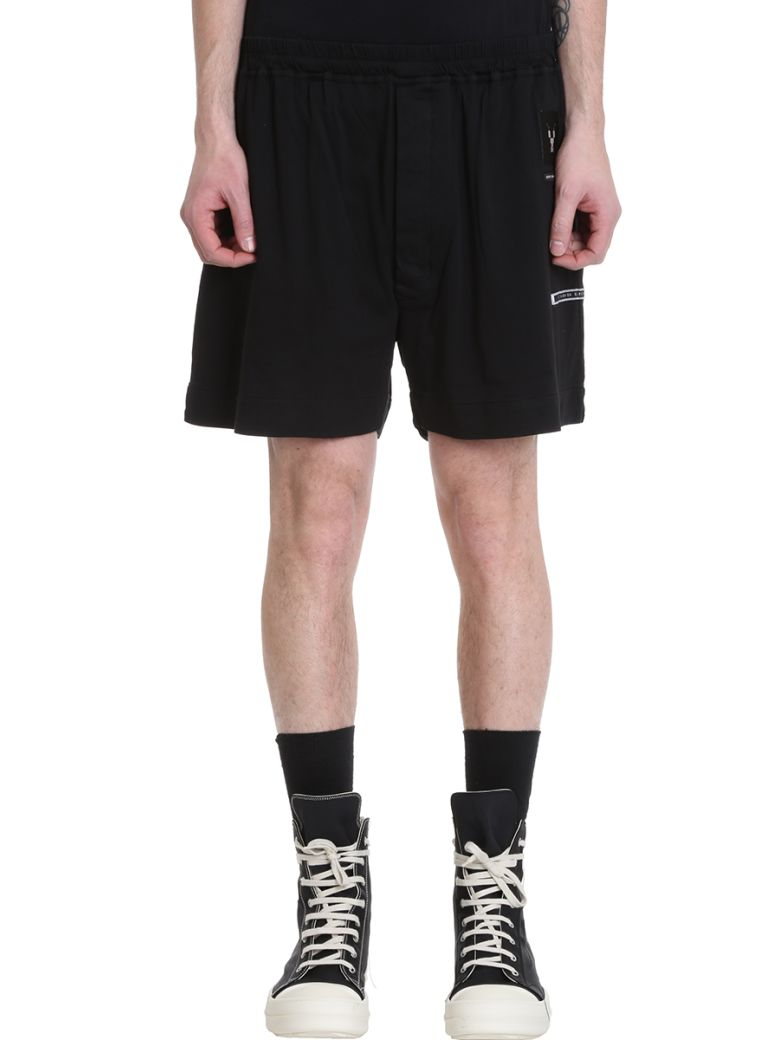 DRKSHDW Black Cotton Shorts - black