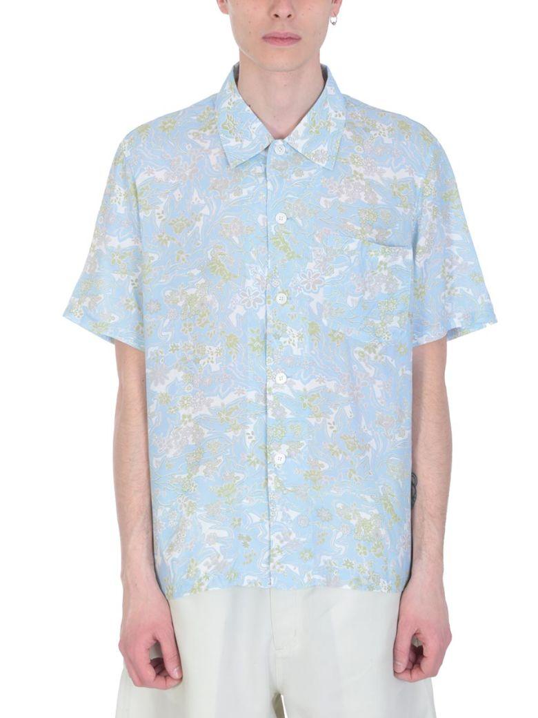 Our Legacy Light Blue Cotton Shirt - cyan