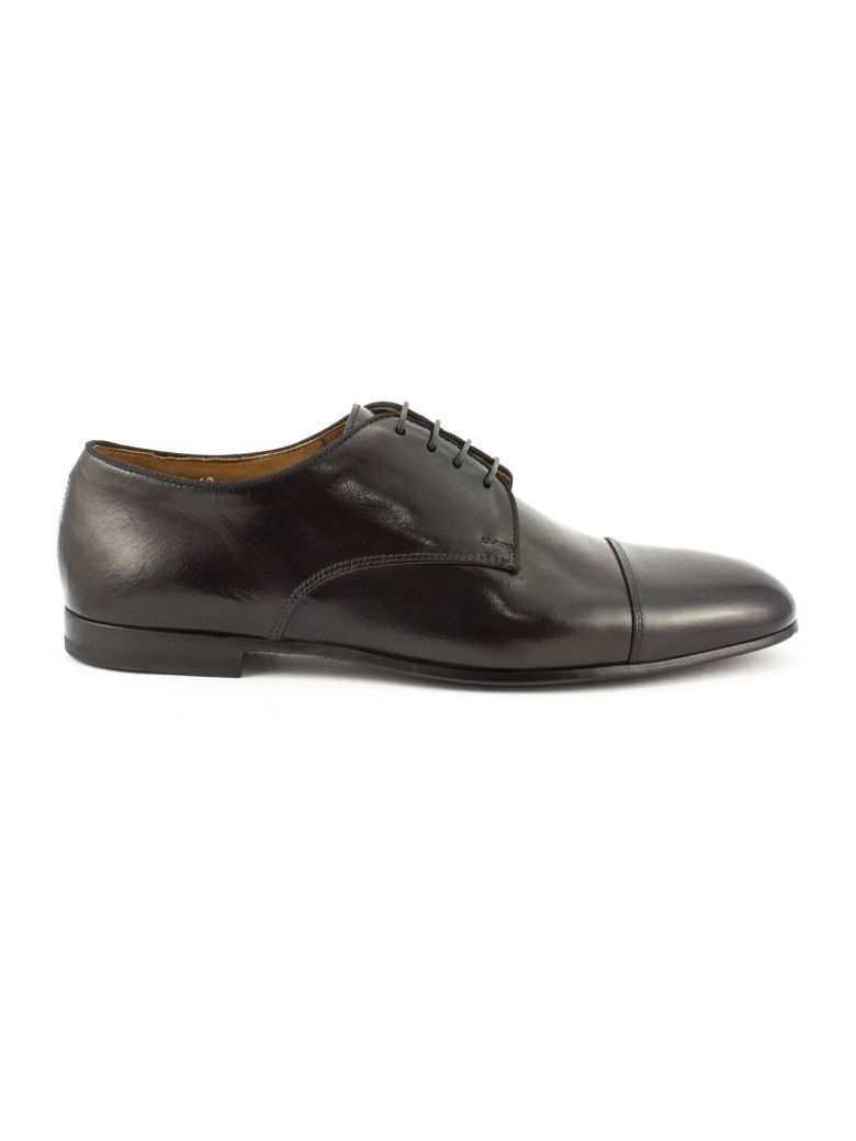 Doucal's Brown Leather Derby Shoes - Testa Di Moro