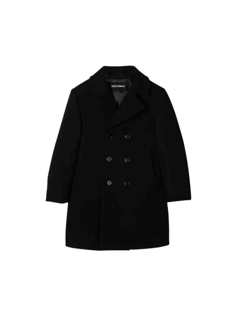 Dolce & Gabbana Kids' Black Coat In Nero