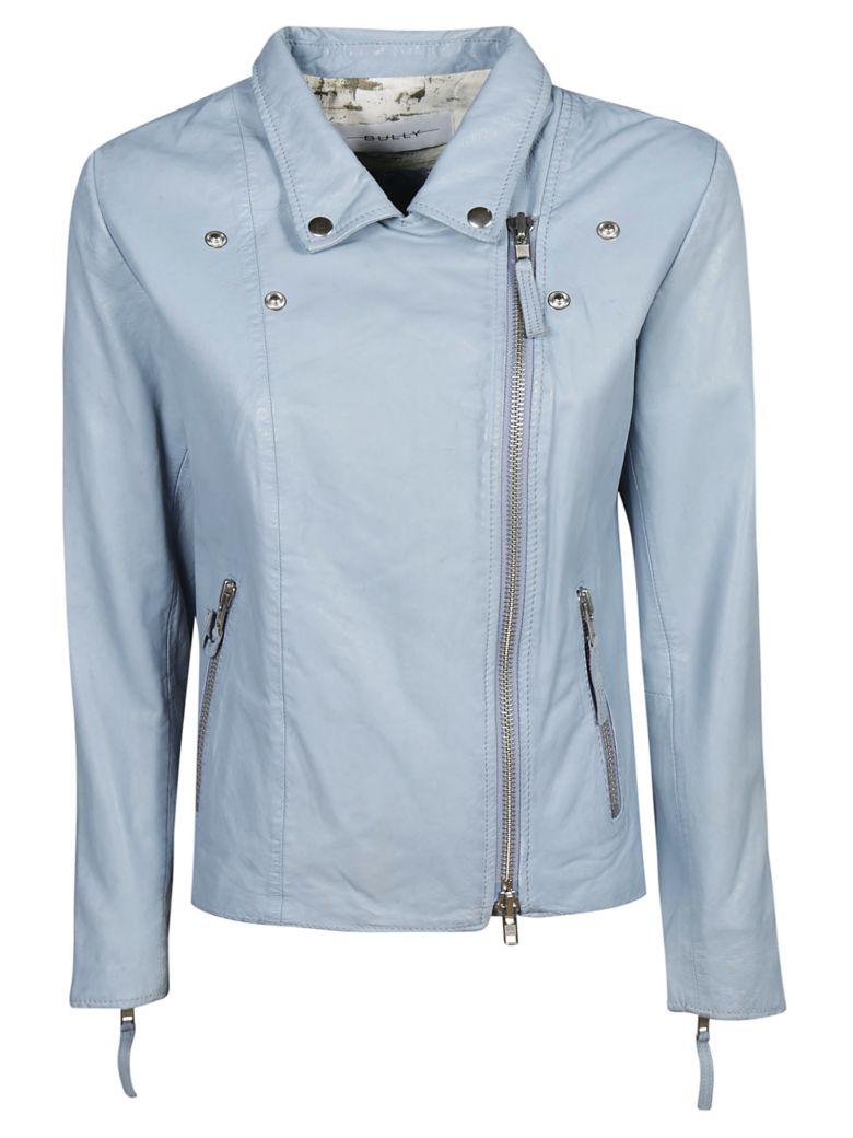 Bully Zipped Biker Jacket - Azure