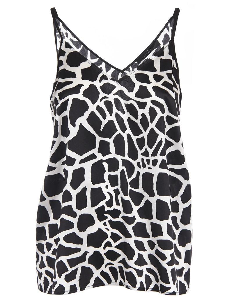 Federica Tosi Giraffe Print Top - Bianco NERO