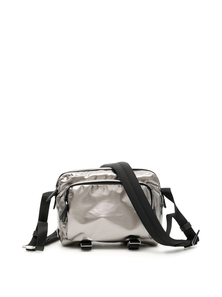Prada Nylon Messenger Bag - FERRO (Metallic)
