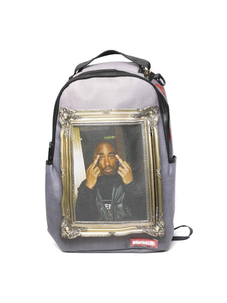 Sprayground Back Tupac Golden Boy - Grey