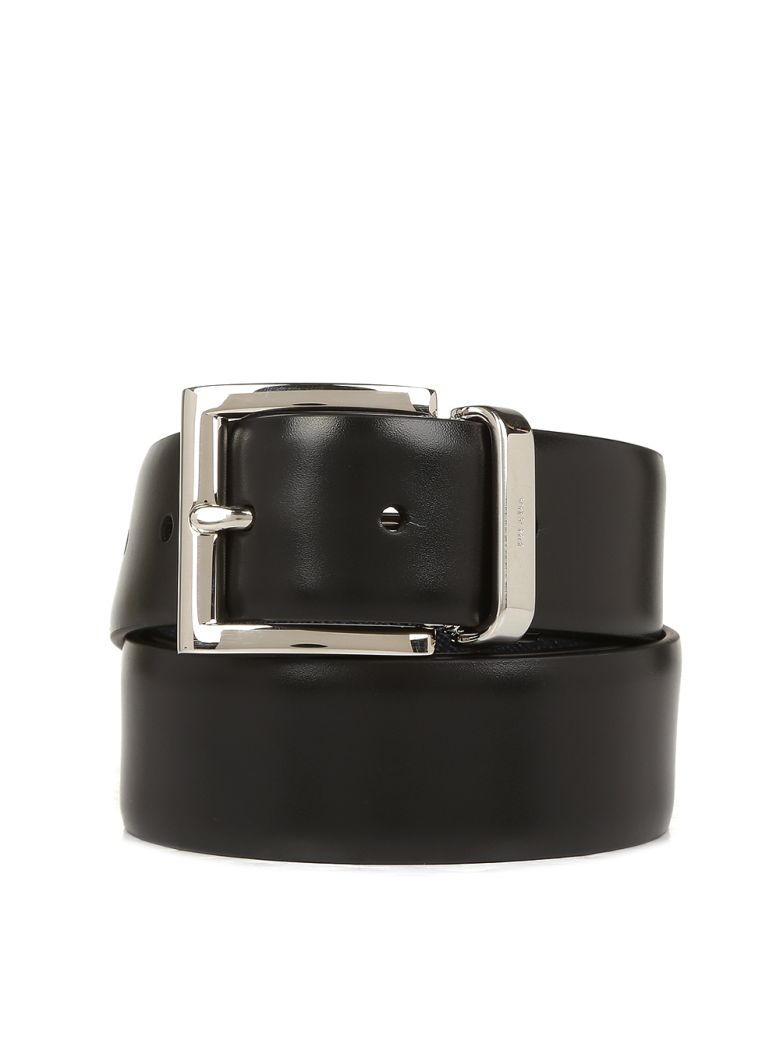 Prada Leather Belt - Nero/baltico
