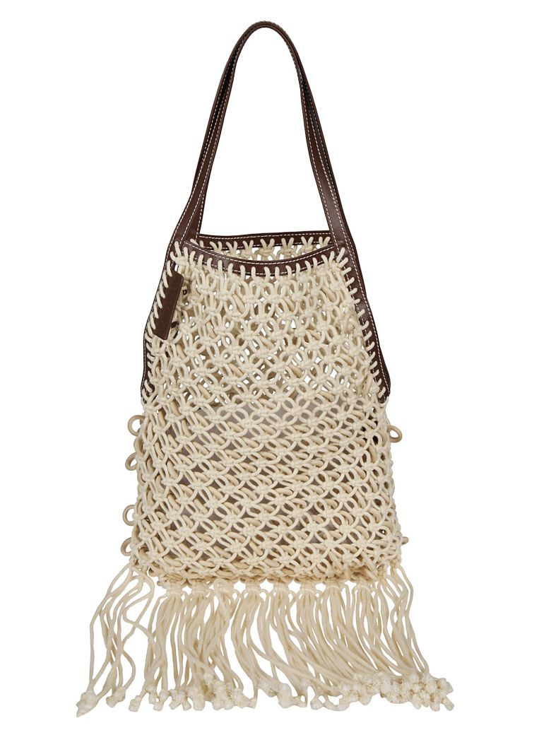 J.W. Anderson Jw Anderson Stitched Detail Shopper Bag - Brown