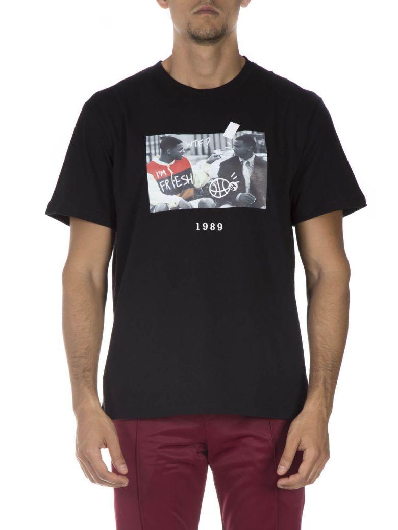 Throw Back Black Cotton T-shirt - Black