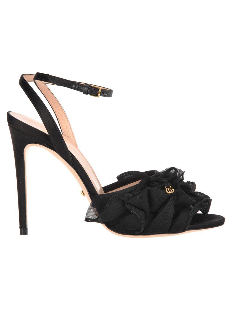 Gucci Gucci Tulle Sandals - BLACK