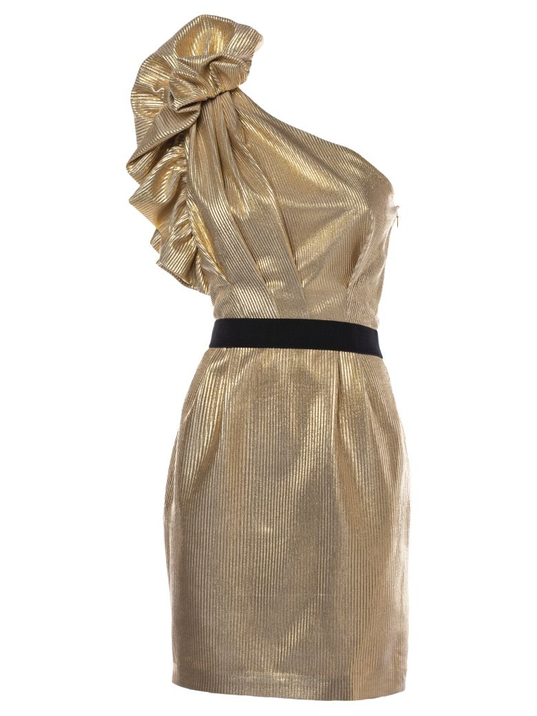 In The Mood For Love Agathe Dress - Gold