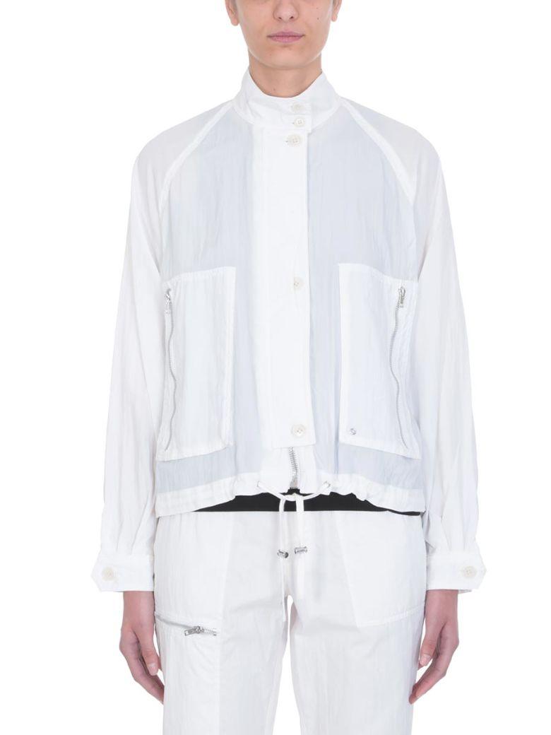 Helmut Lang Parachute Short Trench Jacket - white