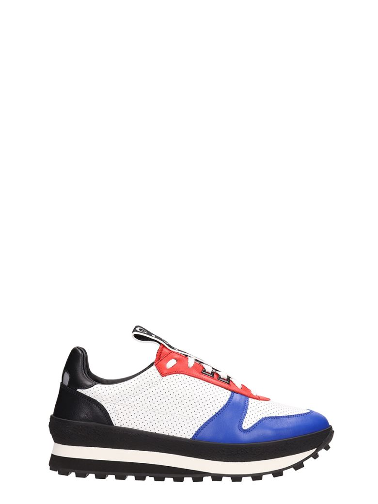 Givenchy White-multi Fabric And Leather Tr3 Runner Sneakers - white
