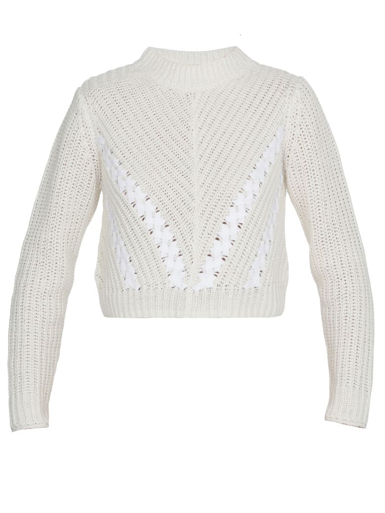3.1 Phillip Lim Cropped Sweater - ANT. WHITE