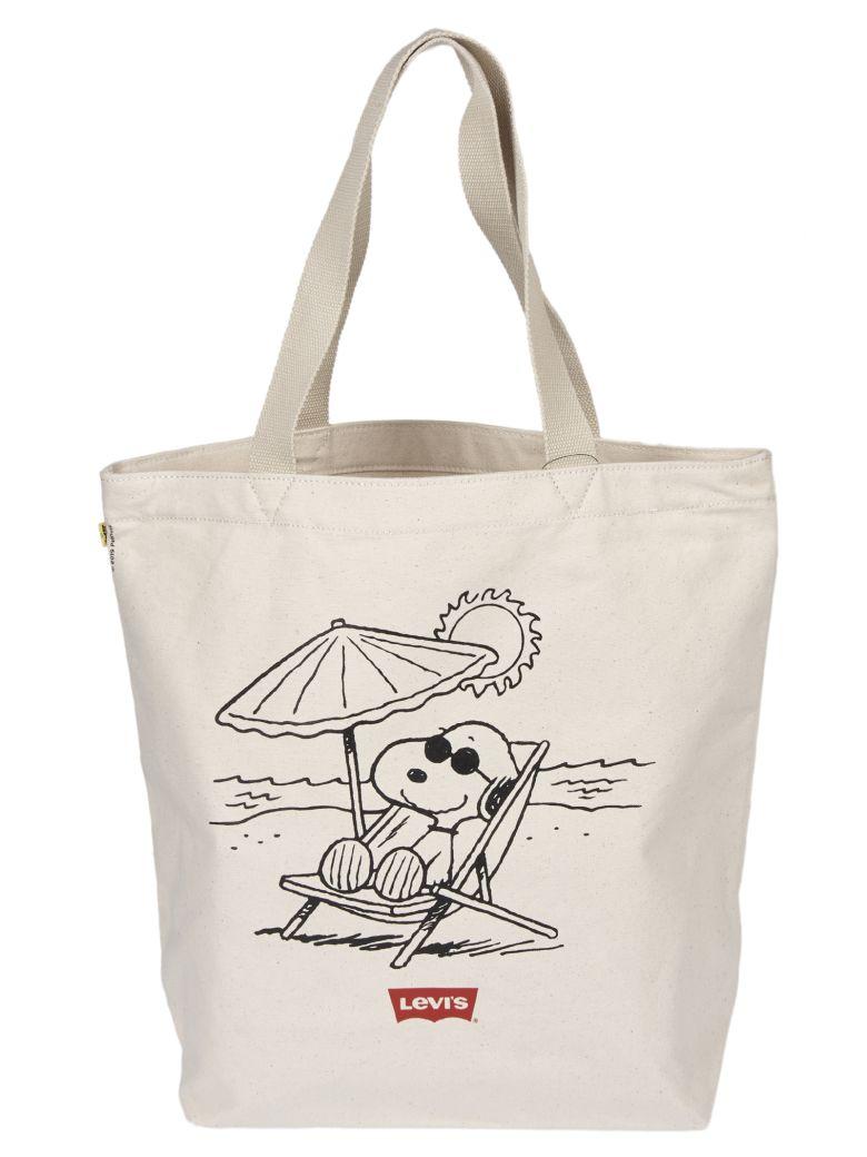 Levi's Snoopy Print Shopper Bag - Beige