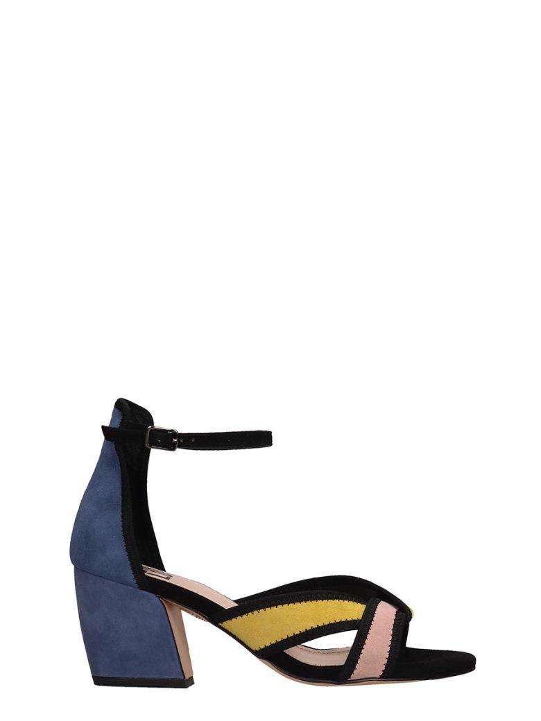 Bibi Lou Blue Suede Sandals - Multicolor