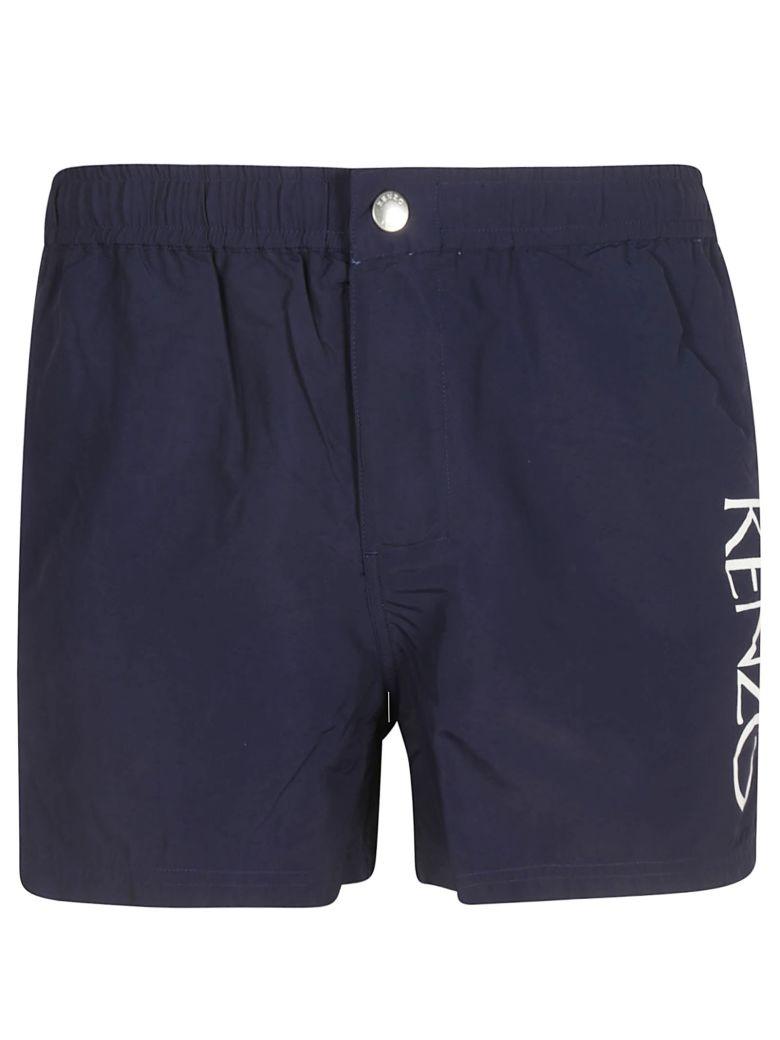 Kenzo Logo Swim Shorts - Blue