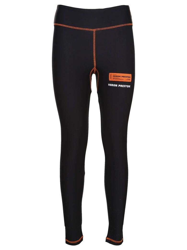 HERON PRESTON Logo Print Leggings - Black