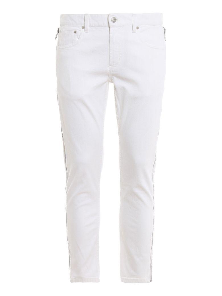 Alexander McQueen Side Zip Jeans - White