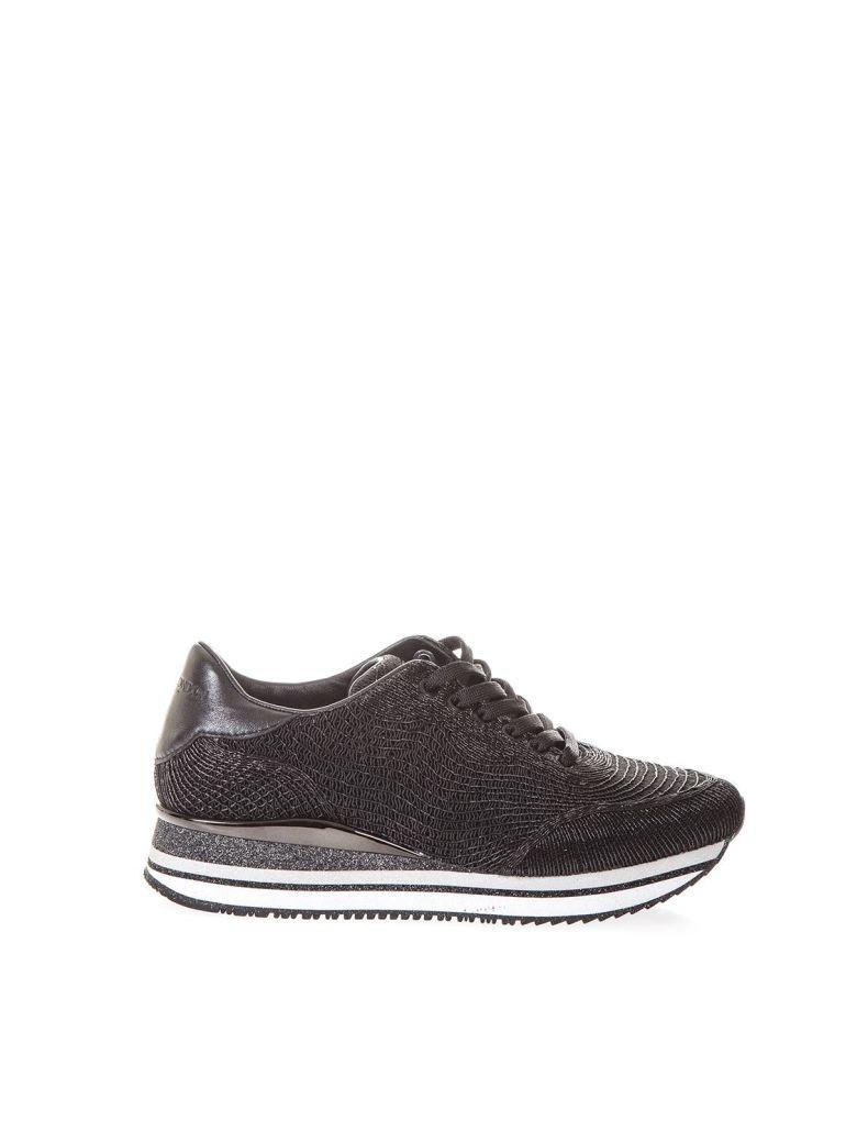 Crime london Black Fugitive Sneakers In Nylon - Black
