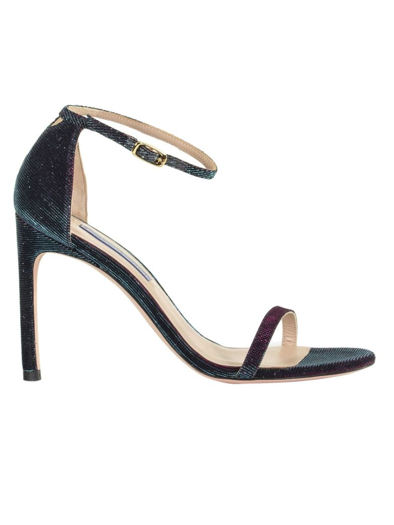 Stuart Weitzman Contrasting High Heel Sandals - BLUE