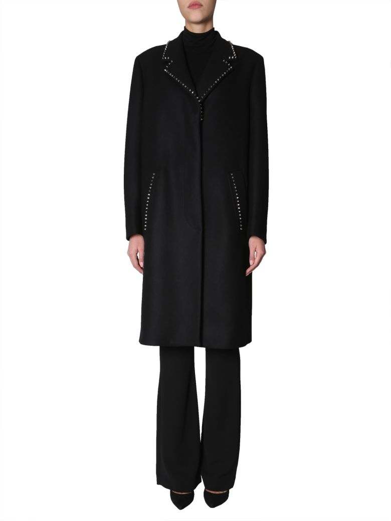 Versace Collection Studded Coat - NERO