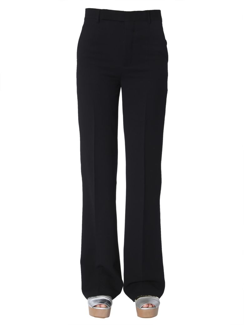 Rick Owens Wide Trousers - NERO