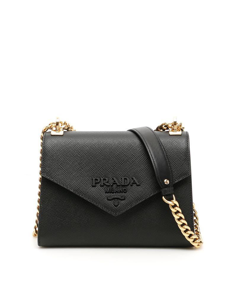 Prada Leather Monochrome Bag - NERO (Black)