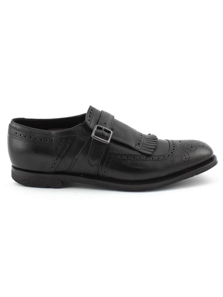 Church's Black Smooth Leather Shanghai Monk Shoes. - Nero
