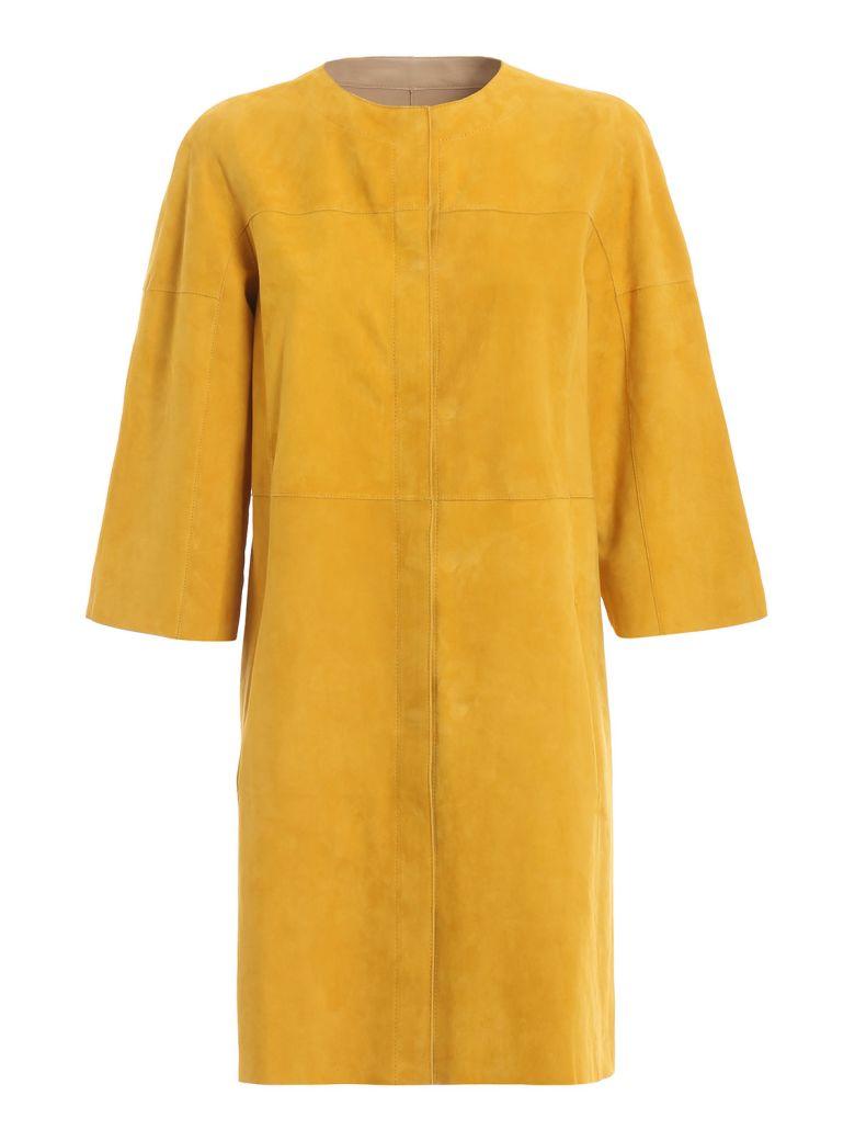 DROMe Drôme Reversible Coat - Mustard/camel