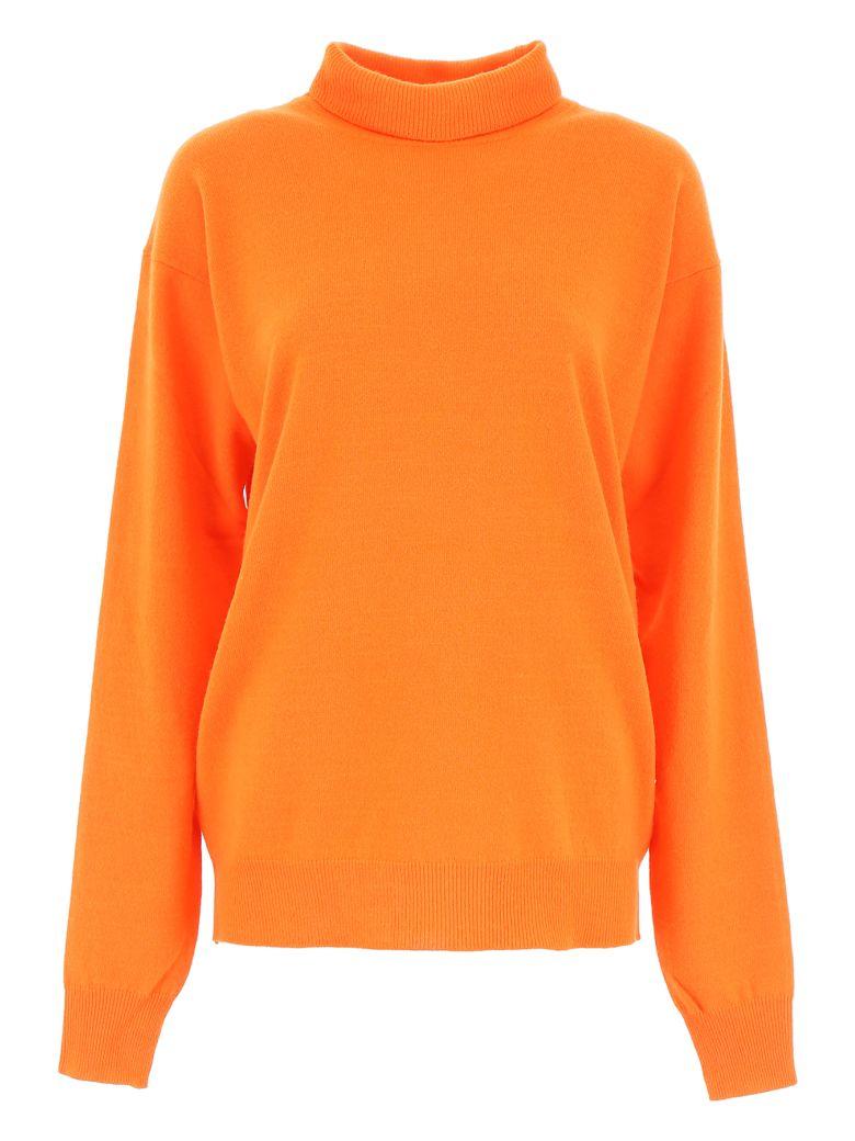 Calvin Klein Logo Turtleneck - ORANGE (Orange)