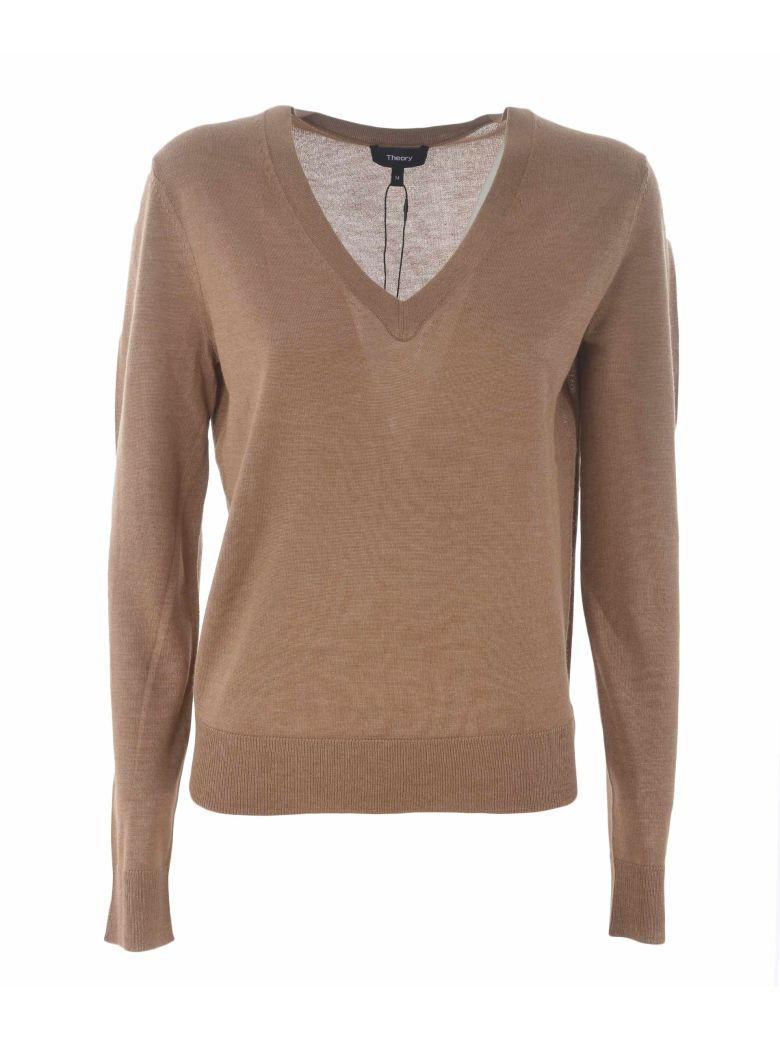 Theory Slim Fit Sweater - Beige