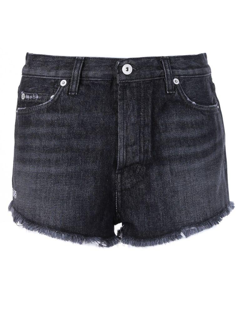 HERON PRESTON Distressed Denim Shorts