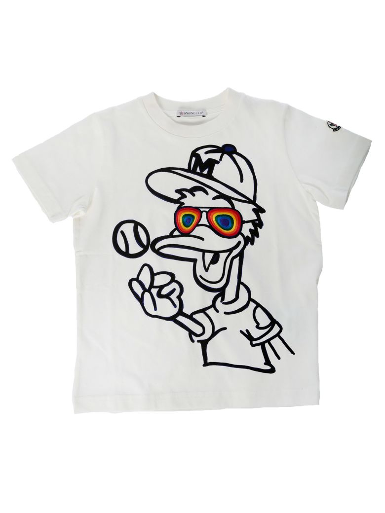 Moncler Kids Duck Print T-shirt