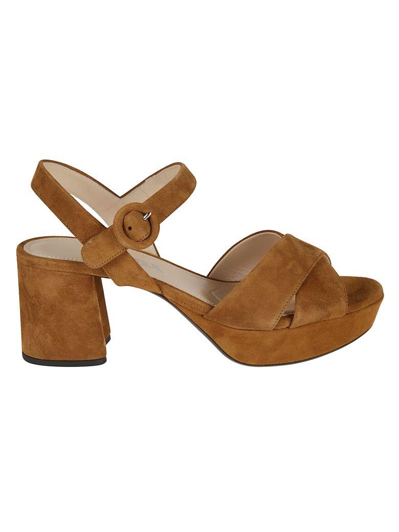 Prada Sandals BLOCK-HEEL SANDALS