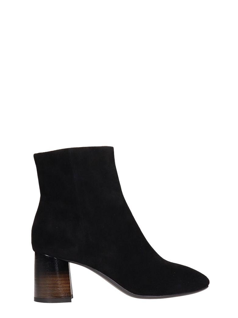 Lola Cruz Belinda Black Suede Ankle Boots - black
