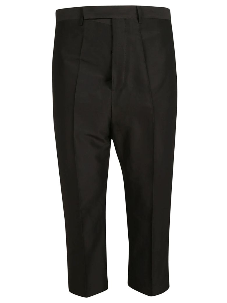 Rick Owens Cropped Trousers - Black