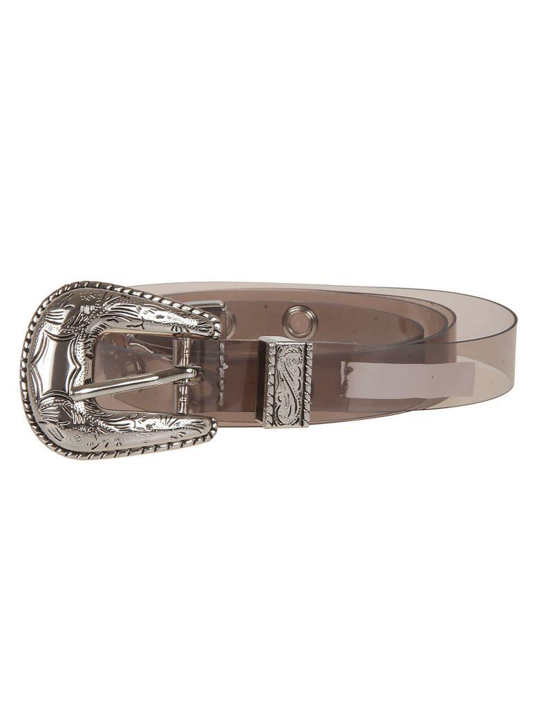 B-Low the Belt Transparent Belt - Lt Grey Silver