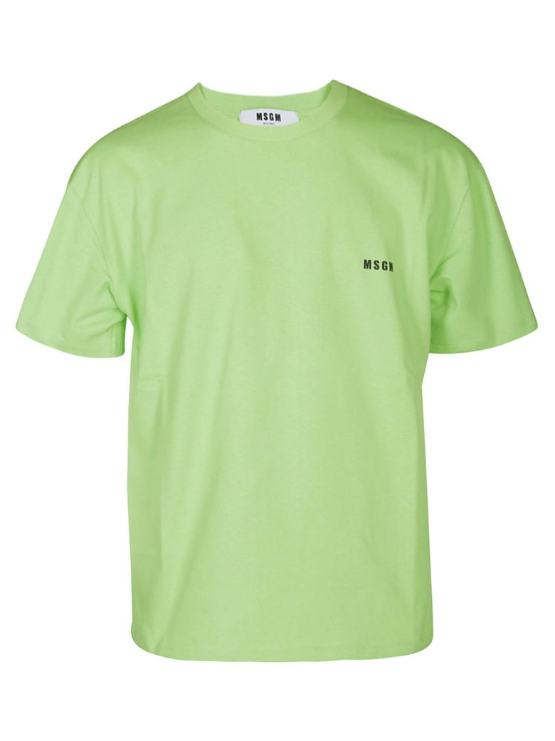 MSGM Loose Fit Logo T-shirt - Green