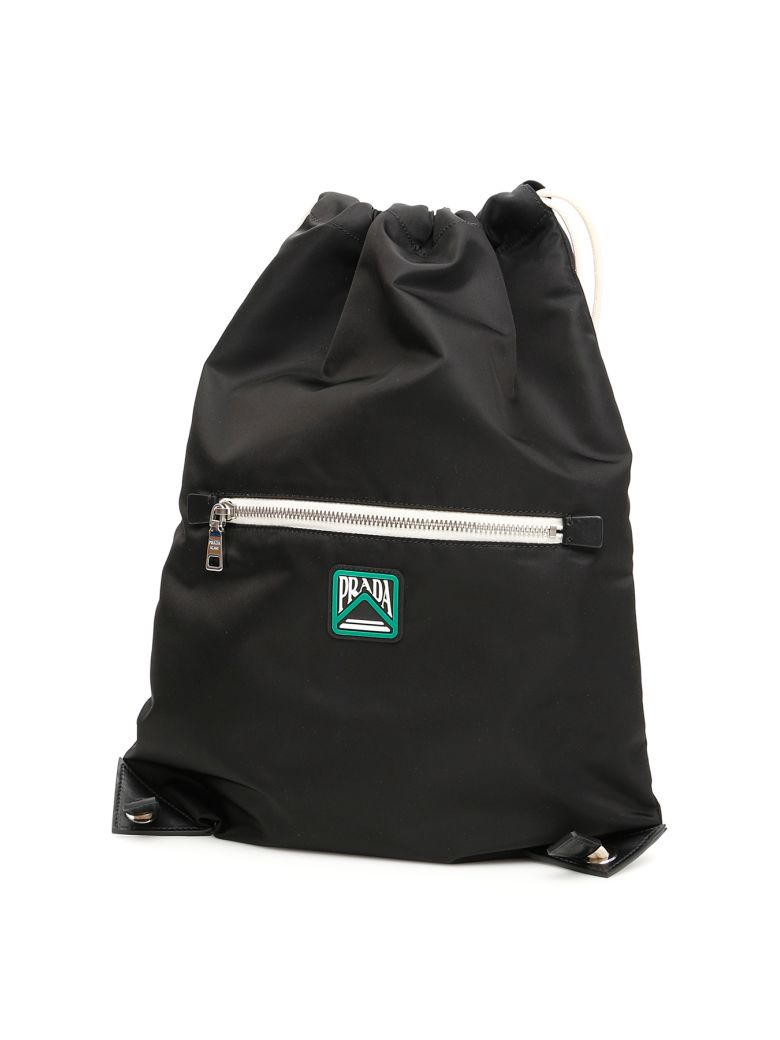 Prada Backpack With Logo Patch - NERO (Black)