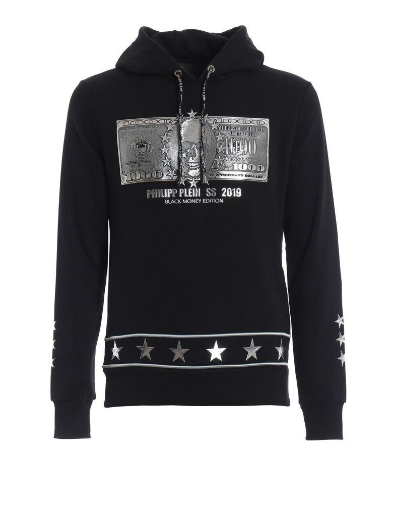Philipp Plein Dollar Hoodie - Black/silver