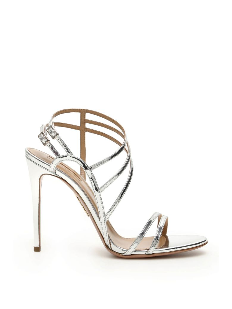 Aquazzura Spicy Sandals 105 - SILVER (Silver)