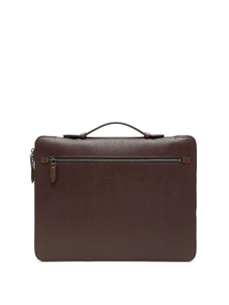 Salvatore Ferragamo Revival Briefcase - BROWN (Brown)