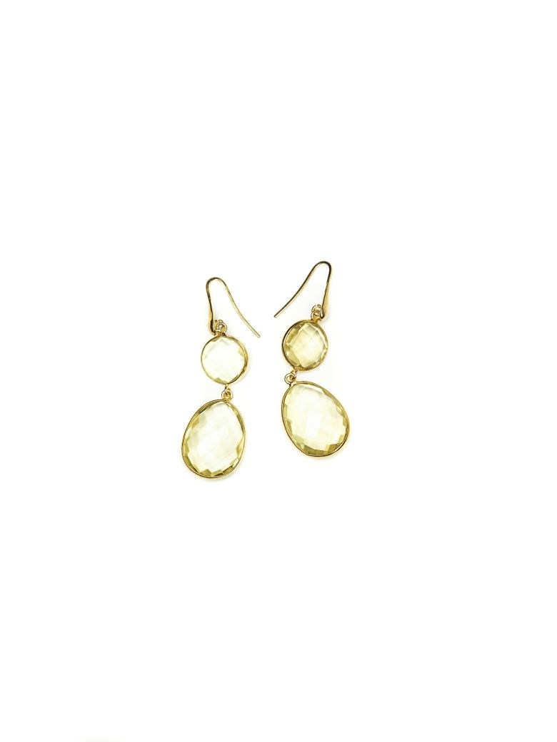 Bianca Baykam Crystal Detail Earrings - Giallo