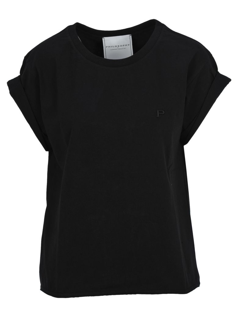 Philosophy di Lorenzo Serafini Philosophy Philosophy Embroidered Logo T-shirt - BLACK
