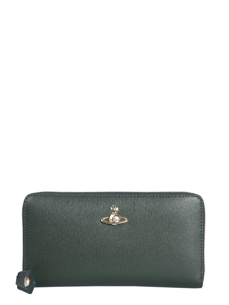 Vivienne Westwood Victoria Zip Around Wallet - VERDE